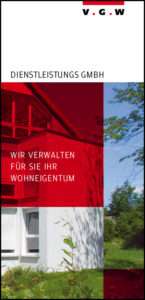 Folder der WEG-Hausverwaltung und Verwaltung des Wohneigentums der VGW Schwäbisch Gmünd