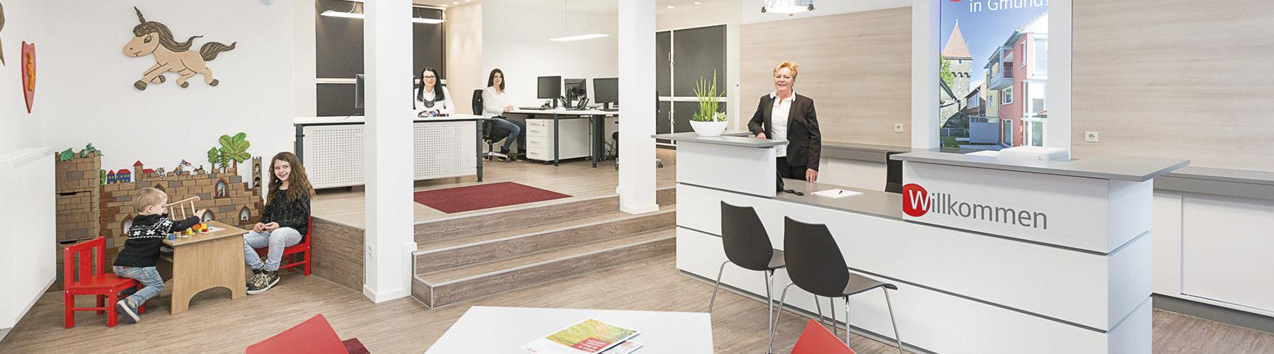 W-Punkt Schwaebisch Gmuend Ansprechpartner der VGW für Immobilien Wohnungsbau und Dienstleistungen