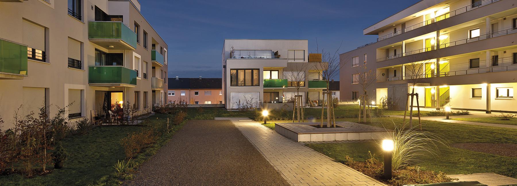 Wohnungen an der Oberen Halde am Rehnenhof der VGW Schwäbisch Gmünd