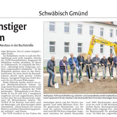 Spatenstich für das Neubauvorhaben in der Buchstraße
