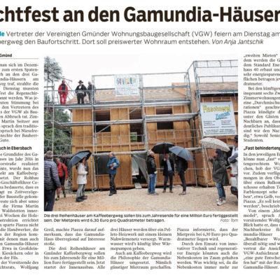 Richtfest an den Gamundia-Häusern