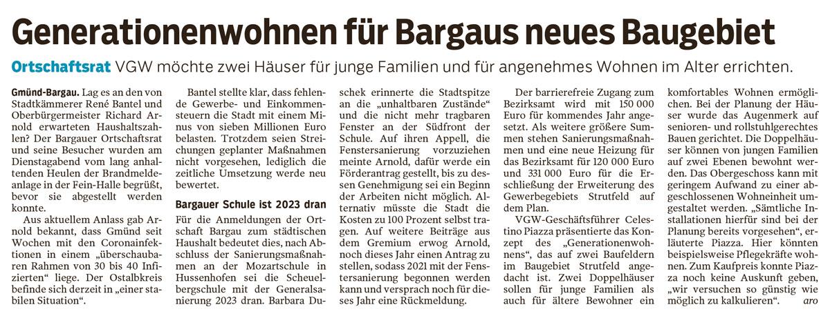 Generationenwohnen in Bargau